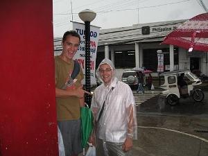 Evan has fantastic rain attire