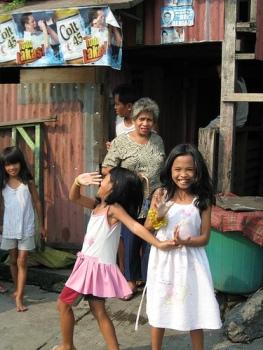 Girls in the slums of Manila
