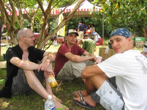 Jon and our two friends Mac and Tom at Peace Music Festival