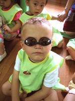 Jen's student Milo on Sunglasses Day