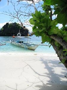 A typical beach in Palawan